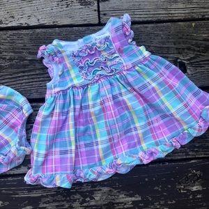 Ralph Lauren Plaid Ruffle Dress Set
